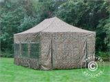 Pop up gazebo FleXtents PRO 4x6 m Camouflage/Military, incl. 8 sidewalls - 14