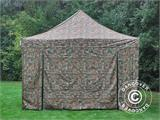 Pop up gazebo FleXtents PRO 4x6 m Camouflage/Military, incl. 8 sidewalls - 15