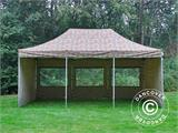 Pop up gazebo FleXtents PRO 4x6 m Camouflage/Military, incl. 8 sidewalls - 16