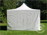 Vouwtent/Easy up tent FleXtents Xtreme 50 Heavy Duty 4x4m, Wit inkl 4 Zijwanden - 3