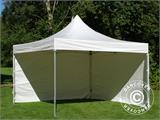 Vouwtent/Easy up tent FleXtents Xtreme 50 Heavy Duty 4x4m, Wit inkl 4 Zijwanden - 7