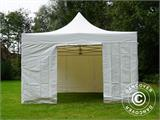 Vouwtent/Easy up tent FleXtents Xtreme 50 Heavy Duty 4x6m Wit, inkl. 8 Zijwanden - 8