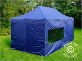 Pop up gazebo FleXtents Xtreme 50 3x6 m Dark blue, incl. 6 sidewalls - 1