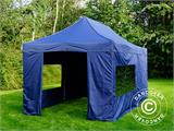 Pop up gazebo FleXtents Xtreme 50 3x6 m Dark blue, incl. 6 sidewalls - 3