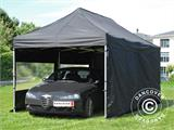 Pop up gazebo FleXtents PRO 3x6 m Black, incl. 6 sidewalls - 3