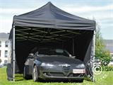 Pop up gazebo FleXtents PRO 3x6 m Black, incl. 6 sidewalls - 4