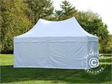 Carpa plegable FleXtents PRO Peak Pagoda 3x6m Blanco, incluye 6 muros laterales - 1