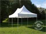 Carpa plegable FleXtents PRO Peak Pagoda 3x6m Blanco, incluye 6 muros laterales - 3