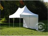 Carpa plegable FleXtents PRO Peak Pagoda 3x6m Blanco, incluye 6 muros laterales - 5
