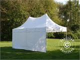 Carpa plegable FleXtents PRO Peak Pagoda 3x6m Blanco, incluye 6 muros laterales - 11