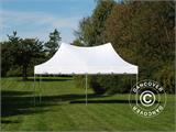 Carpa plegable FleXtents PRO Peak Pagoda 3x6m Blanco, incluye 6 muros laterales - 16