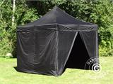 Pop up gazebo FleXtents Xtreme 60 3x3 m Black, incl. 4 sidewalls - 1