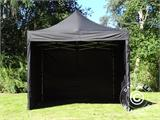 Pop up gazebo FleXtents Xtreme 60 3x3 m Black, incl. 4 sidewalls - 3