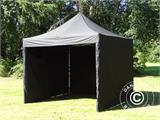 Pop up gazebo FleXtents Xtreme 60 3x3 m Black, incl. 4 sidewalls - 6