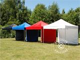 Vouwtent/Easy up tent FleXtents Xtreme 60 3x3m Rood, inkl. 4 Zijwanden - 3