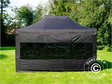 Vouwtent/Easy up tent FleXtents PRO 3x4,5m Zwart, inkl. 4 Zijwanden - 1