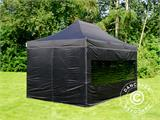 Vouwtent/Easy up tent FleXtents PRO 3x4,5m Zwart, inkl. 4 Zijwanden - 2