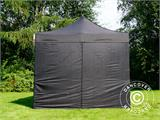 Vouwtent/Easy up tent FleXtents PRO 3x4,5m Zwart, inkl. 4 Zijwanden - 3
