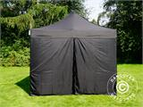 Vouwtent/Easy up tent FleXtents PRO 3x4,5m Zwart, inkl. 4 Zijwanden - 4