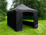 Vouwtent/Easy up tent FleXtents PRO 3x4,5m Zwart, inkl. 4 Zijwanden - 6