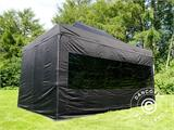 Vouwtent/Easy up tent FleXtents PRO 3x4,5m Zwart, inkl. 4 Zijwanden - 7