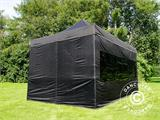 Vouwtent/Easy up tent FleXtents PRO 3x4,5m Zwart, inkl. 4 Zijwanden - 8