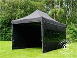 Vouwtent/Easy up tent FleXtents PRO 3x4,5m Zwart, inkl. 4 Zijwanden - 11