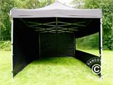 Vouwtent/Easy up tent FleXtents PRO 3x4,5m Zwart, inkl. 4 Zijwanden - 12