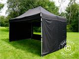 Vouwtent/Easy up tent FleXtents PRO 3x4,5m Zwart, inkl. 4 Zijwanden - 13