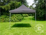 Vouwtent/Easy up tent FleXtents PRO 3x4,5m Zwart, inkl. 4 Zijwanden - 15