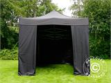 Vouwtent/Easy up tent FleXtents PRO 3x4,5m Zwart, inkl. 4 Zijwanden - 17