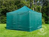 Pop up gazebo FleXtents PRO 4x4 m Green, incl. 4 sidewalls - 1