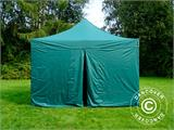 Pop up gazebo FleXtents PRO 4x4 m Green, incl. 4 sidewalls - 3