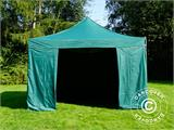 Pop up gazebo FleXtents PRO 4x4 m Green, incl. 4 sidewalls - 4