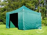 Pop up gazebo FleXtents PRO 4x4 m Green, incl. 4 sidewalls - 6