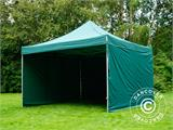 Pop up gazebo FleXtents PRO 4x4 m Green, incl. 4 sidewalls - 7