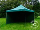 Pop up gazebo FleXtents PRO 4x4 m Green, incl. 4 sidewalls - 8