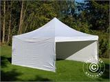 Carpa plegable FleXtents PRO 5x5m Blanco, Incl. 4 lados - 6