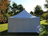 Carpa plegable FleXtents PRO 5x5m Blanco, Incl. 4 lados - 10