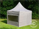 Carpa plegable FleXtents PRO Peak Pagoda 3x3m Latte, incluye 4 muros laterales - 2