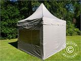 Carpa plegable FleXtents PRO Peak Pagoda 3x3m Latte, incluye 4 muros laterales - 9
