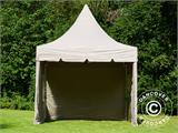 Carpa plegable FleXtents PRO Peak Pagoda 3x3m Latte, incluye 4 muros laterales - 11