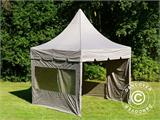 Carpa plegable FleXtents PRO Peak Pagoda 3x3m Latte, incluye 4 muros laterales - 13