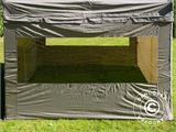 Carpa plegable FleXtents PRO Peak Pagoda 3x3m Latte, incluye 4 muros laterales - 15