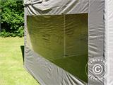 Carpa plegable FleXtents PRO Peak Pagoda 3x3m Latte, incluye 4 muros laterales - 16