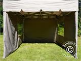 Carpa plegable FleXtents PRO Peak Pagoda 3x3m Latte, incluye 4 muros laterales - 17
