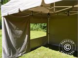 Carpa plegable FleXtents PRO Peak Pagoda 3x3m Latte, incluye 4 muros laterales - 20