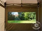 Carpa plegable FleXtents PRO Peak Pagoda 3x3m Latte, incluye 4 muros laterales - 24