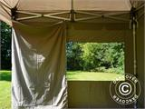 Carpa plegable FleXtents PRO Peak Pagoda 3x3m Latte, incluye 4 muros laterales - 25