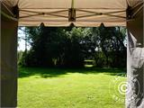 Carpa plegable FleXtents PRO Peak Pagoda 3x3m Latte, incluye 4 muros laterales - 27